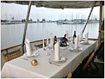 Dining room at the afterdeck